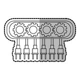 Isolated robot with gears design Stock Image