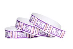Isolated Roll of tickets Stock Photo