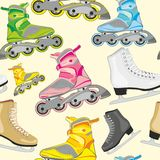 Isolated roller and ice skates. Fully editable vector illustration seamless pattern isolated roller and ice skates Royalty Free Stock Images