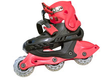 Isolated roller-skates Stock Images