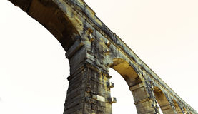 Isolated roman aqueduct Stock Image