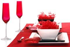 Isolated; Romantic Modern Black & White Table Sett Stock Photo