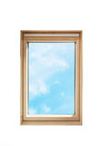 Isolated roof window skylight on white background. Stock Photo