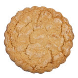 Isolated round cookie. Round cookie isolated on white background. Clipping path included Stock Image