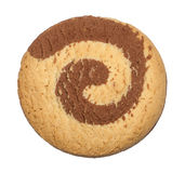 Isolated round cookie Stock Photos