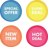 Isolated round web banners Royalty Free Stock Images