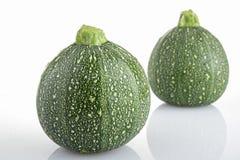 Isolated round zucchini Royalty Free Stock Photos