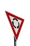 Isolated roundabout sign royalty free stock photos