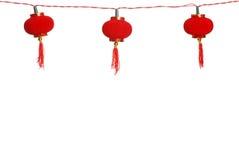 Isolated row of chinese lanterns Stock Image