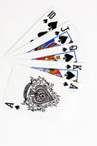 Isolated royal flush. Picture for poker lovers stock photography