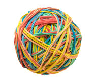 Isolated Rubber Band Ball Stock Photo