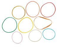 Isolated Rubber Bands royalty free stock photography