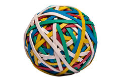 Isolated rubberband sphere Royalty Free Stock Image