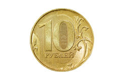Isolated 10 rubles coin Stock Photography