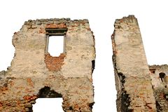 Ruin isolated royalty free stock image