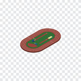 Isolated Running Field Isometric. Run Stadium Vector Element Can Be Used For Running, Field, Run Design Concept. Royalty Free Stock Photography
