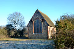 Isolated rural church Royalty Free Stock Photos