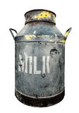 Isolated Rustic Milk Churn Stock Photography