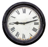 Isolated Rustic Old Station Clock Stock Photos