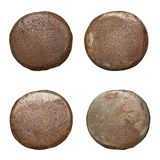 Isolated rusty nail heads. Old rusty nail heads, isolated on white Stock Photography