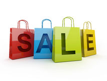 Isolated sale on with clipping path Stock Photo