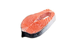Isolated Salmon Royalty Free Stock Photography