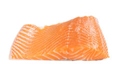 Isolated salmon fillet. On white Stock Image