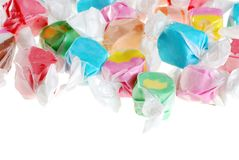 Isolated salt water taffy Royalty Free Stock Photos