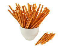 Isolated salted sticks Stock Photography