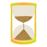 Isolated sand clock Stock Photo