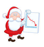 Isolated Santa Claus with negative chart Royalty Free Stock Photo