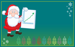 Isolated Santa Claus with positive chart  christma Royalty Free Stock Photo