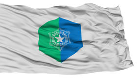 Isolated Sapporo Flag, Capital of Japan Prefecture, Waving on White Background Stock Image