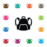 Isolated Satchel Icon. Backpack   Vector Element Can Be Used For Backpack, Bag, Sack Design Concept. Royalty Free Stock Image