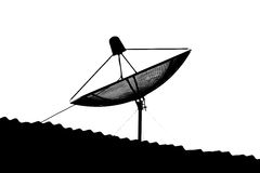 Isolated satellite dish Stock Photos