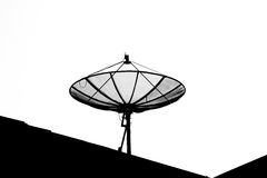 Isolated satellite dish Royalty Free Stock Photography