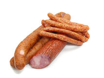 Isolated sausage Stock Photography