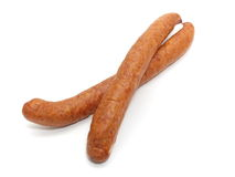 Isolated sausage Royalty Free Stock Photo