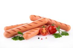 Isolated sausage Stock Photos