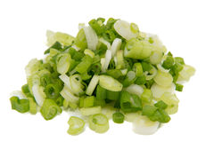 Isolated scallions Stock Images