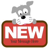 Isolated Schnauzer holding sign Royalty Free Stock Images