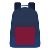 Isolated school bag Royalty Free Stock Photo