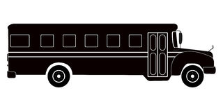 Isolated school bus silhouette. Isolated silhouette of a school bus, Vector illustration Royalty Free Stock Image