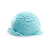 Isolated scoop of turquoise ice cream Royalty Free Stock Photos