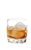 Isolated scotch on the rocks Royalty Free Stock Image