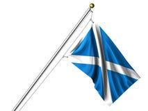 Isolated Scottish Flag Stock Photo