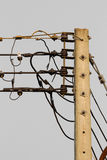 Isolated scramble electric wire Royalty Free Stock Image