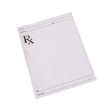 Isolated Script Pad. An isolated script pad without anything wrote on it Stock Photo