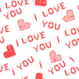 Isolated seamless texture I love you Stock Photography