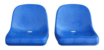 Isolated seats. Isolated stadium seats royalty free stock image